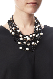 Passports Pearls Pearl And Onyx Necklace - Back cropped