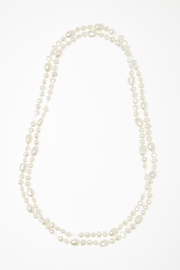 Passports Pearls Pearl & Crystal Necklace - Front cropped