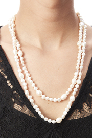 Passports Pearls Pearl & Crystal Necklace - Back cropped