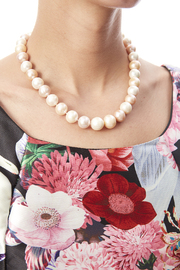 Passports Pearls Natural-hued Pearl Necklace - Back cropped