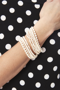 Passports Pearls Ten Strand Pearl Bracelet - Alternate List Image