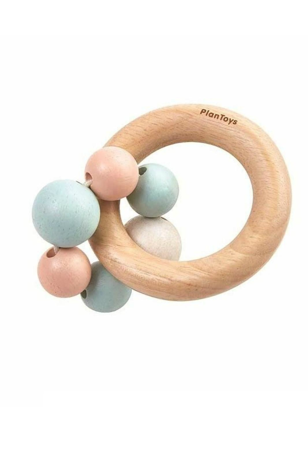 Plan Toys Pastel Beads Rattle - Front Full Image
