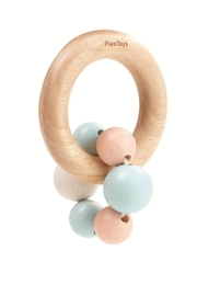 Plan Toys Pastel Beads Rattle - Front cropped