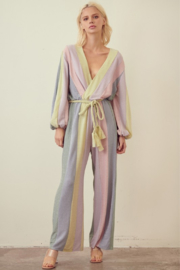 Storia  Pastel Color block Jumpsuit - Product Mini Image