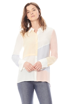 Ecru Pastel Colorblock Shirt - Product List Image