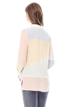 Ecru Pastel Colorblock Shirt - Alternate List Image