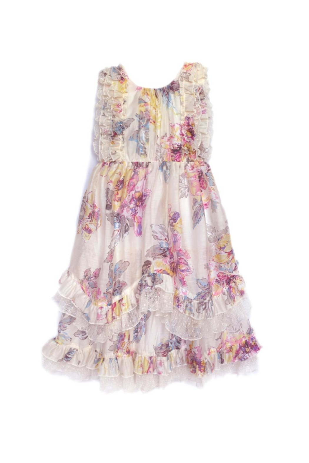 Isobella & Chloe Pastel Flower Dress - Front Cropped Image