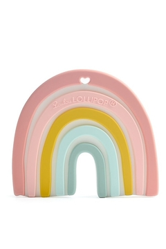 loulou LOLLIPOP Pastel Rainbow Silicone Teether - Product List Image