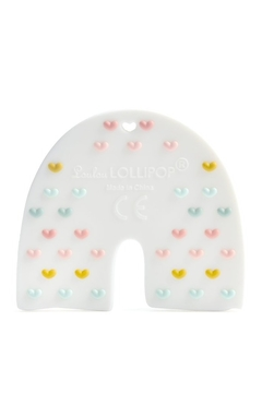 loulou LOLLIPOP Pastel Rainbow Silicone Teether - Alternate List Image