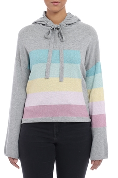 Minnie Rose Pastel Striped Hoodie - Product List Image