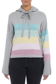 Minnie Rose Pastel Striped Hoodie - Product Mini Image