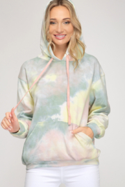 She and Sky Pastel Tie Dye Hoodie - Product Mini Image