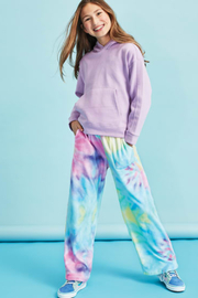 Iscream Pastel Tie Dye Plush Pants - Product Mini Image