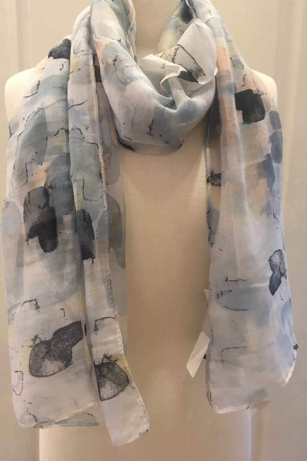 deannas pastel watercolor scarf - Main Image