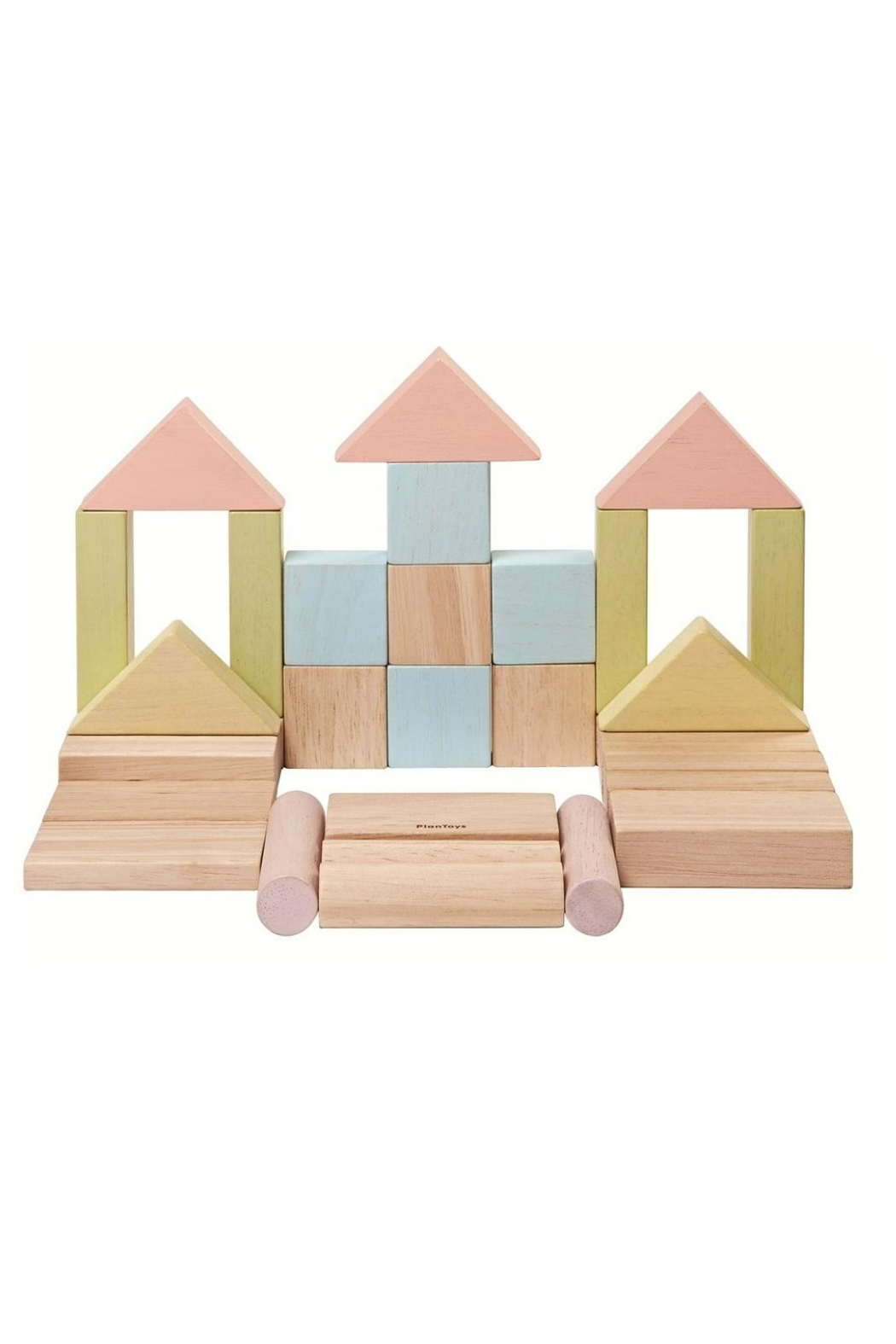 Plan Toys Pastel Wooden Blocks - Front Cropped Image