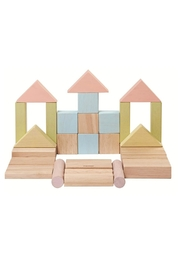 Plan Toys Pastel Wooden Blocks - Front cropped