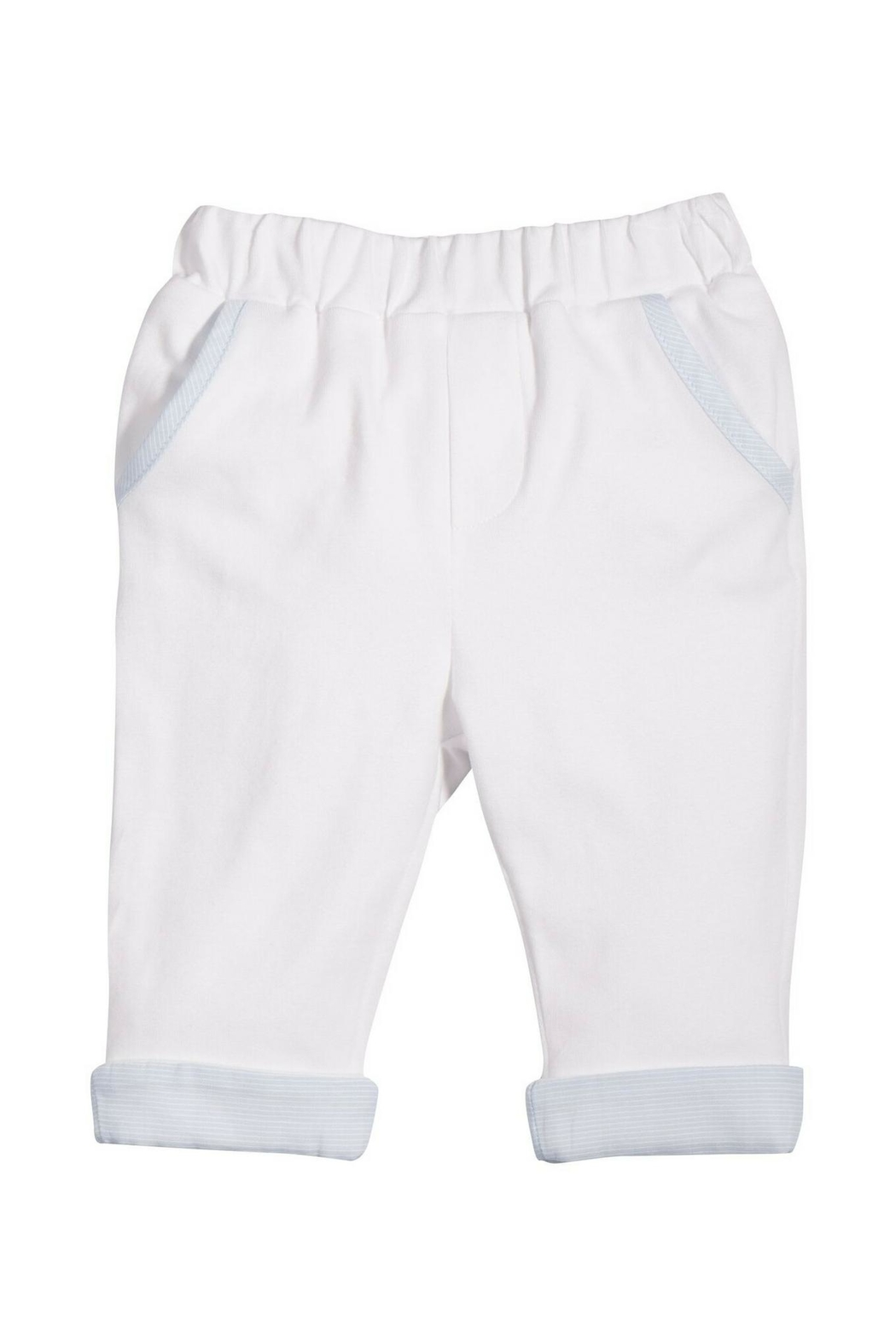 Patachou White Cotton Pants - Front Cropped Image