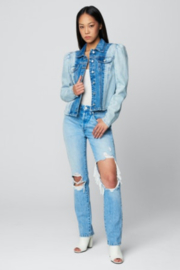 Blank NYC PATCH IT TOGETHER JACKET - Back cropped