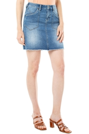 Liverpool  Patch-Pocket Denim Skirt - Product Mini Image
