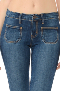 Angry Rabbit Patch Pocket Flare Jeans - Product List Image