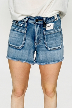 Judy Blue Patch Pocket Shorts - Product List Image