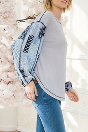 Mystree Patch Print Slv Thermal - Front full body