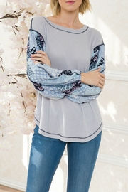 Mystree Patch Print Slv Thermal - Front cropped