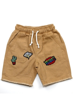 Kapital K Patched Canvas Short - Product List Image