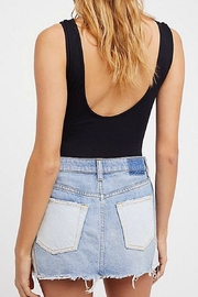 Free People Patched Denim Mini - Front full body