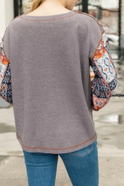 Mystree Patched look thermal top - Side cropped