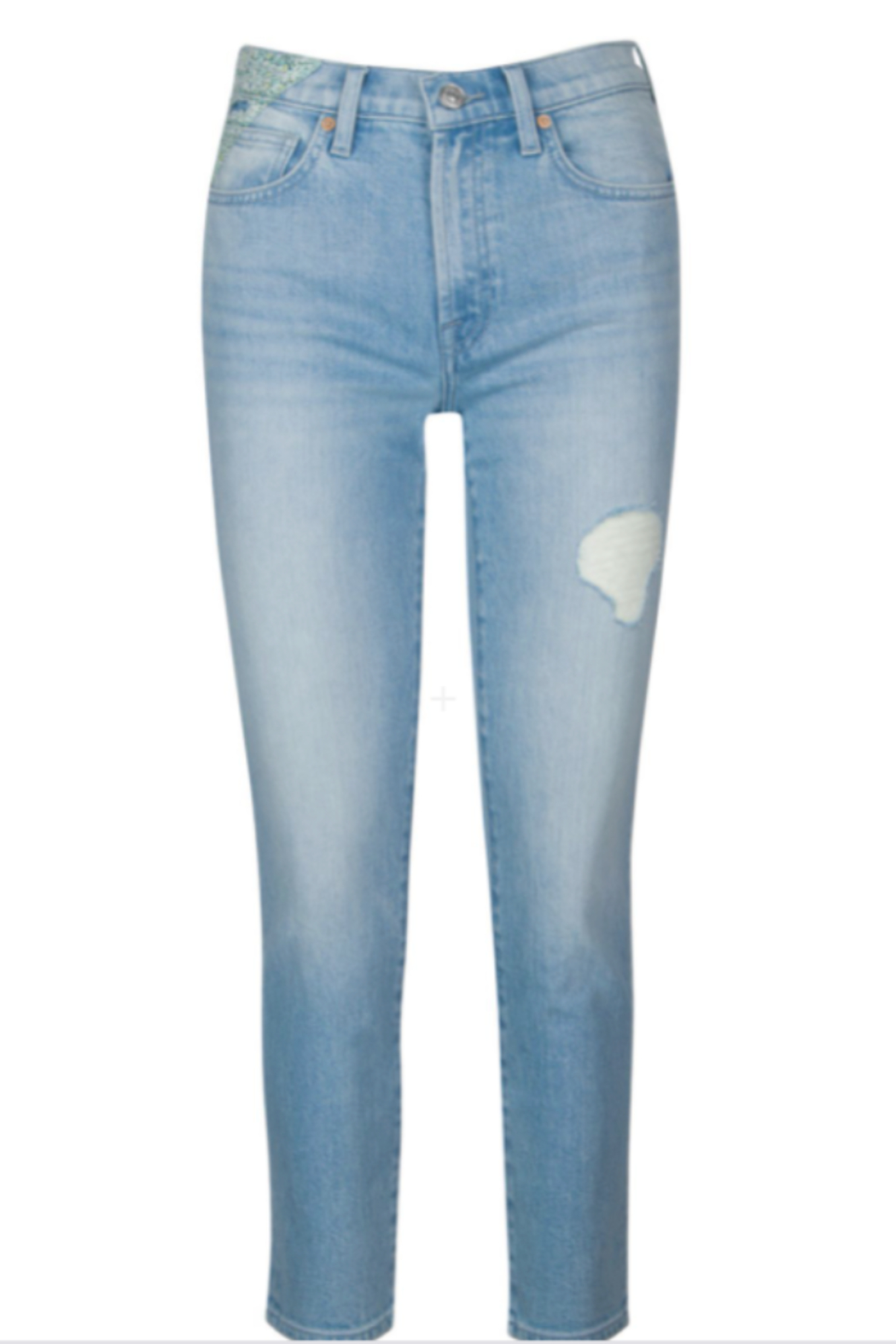 7 For all Mankind Patched Peggi Ankle - Side Cropped Image