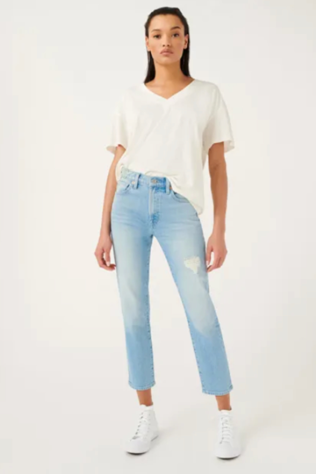 7 For all Mankind Patched Peggi Ankle - Front Cropped Image