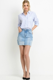 R+D emporium  Patched-Up Denim Skirt - Side cropped