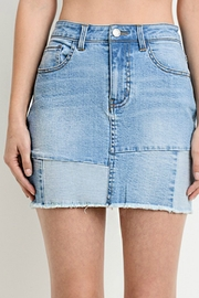 R+D emporium  Patched-Up Denim Skirt - Product Mini Image