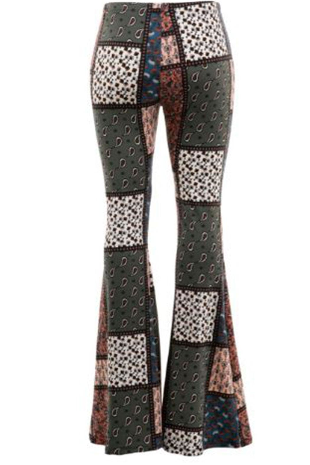 Fashionomics Patchwork Boho Bellbottoms - Front Full Image
