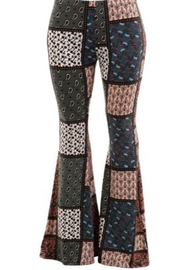 Fashionomics Patchwork Boho Bellbottoms - Front cropped