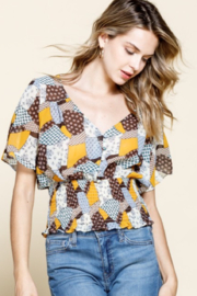 Mittoshop Patchwork Button Down Smocked - Product Mini Image