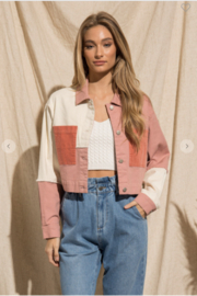 BaeVely Patchwork Button Up - Product Mini Image