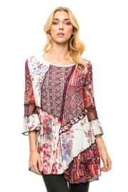 Adore Patchwork Chiffon Tunic - Product Mini Image