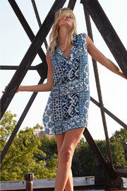 cino Patchwork design collared shift dress - Product Mini Image