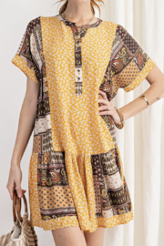 easel  Patchwork Dress - Product Mini Image