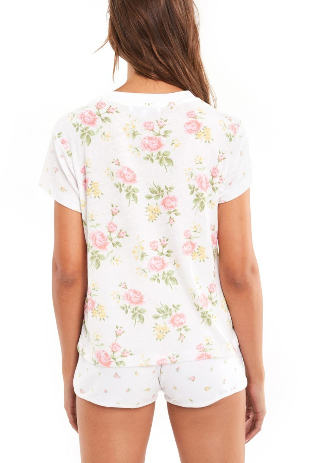 Wildfox Patchwork Floral Tee - Back Cropped Image