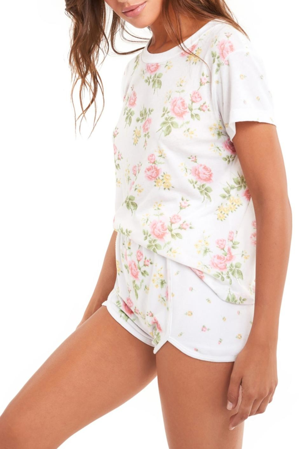 Wildfox Patchwork Floral Tee - Side Cropped Image
