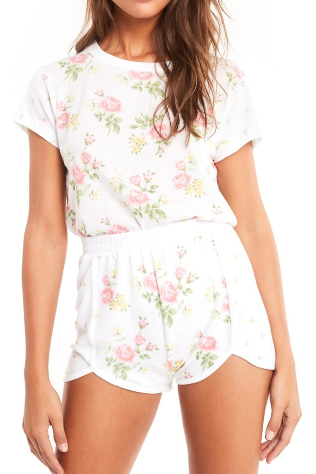 Wildfox Patchwork Floral Tee - Main Image