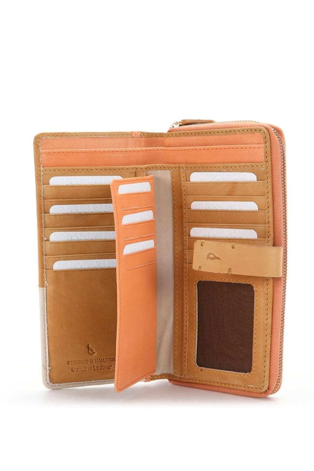 abbacino Patchwork Leather Wallet - Front Full Image
