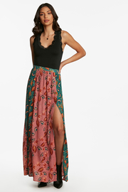 Patrons of Peace Patchwork Maxi Skirt - Front cropped