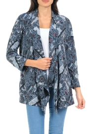 Cubism Patchwork Print Cardigan - Product Mini Image
