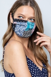 Pink 4 You patchwork print mask - Product Mini Image