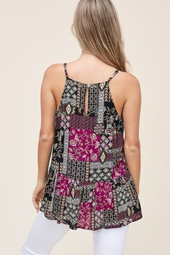 Staccato Patchwork Print Sleeveless Top - Alternate List Image