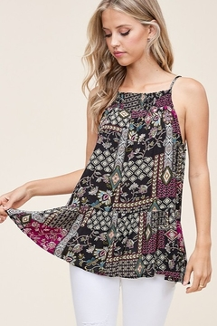 Staccato Patchwork Print Sleeveless Top - Product List Image